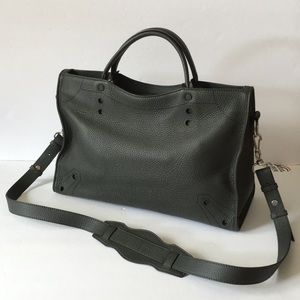 Balenciaga Blackout City AJ Handbag Leather